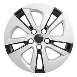 "Toyota - Prius - CCI - 2016-2018 TOYOTA PRIUS 15"" BLACK AND SILVER HUBCAP WHEEL COVERS"