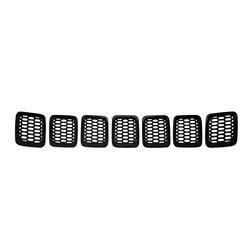Jeep - Compass - CCI - 2017-2020 JEEP COMPASS GLOSS BLACK GRILLE OVERLAY COVER