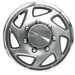 Universal - 15 - CCI - SILVER WITH CHROME RING FORD STYLE UNIVERSAL HUBCAP WHEEL COVERS 15""