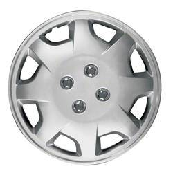 """Universal - 14 - CCI - UNIVERSAL SILVER 14"""" HUBCAP WHEEL COVERS"""