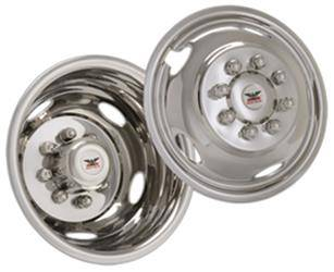 "Ford - F550 - CCI - 1992-1998 Ford Superduty F450 16"" Stainless Steel Wheel Simulator Set"