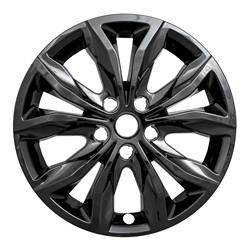 "Chevrolet - Malibu - CCI - 2019-2020 Chevrolet Malibu 17"" GLOSS BLACK WHEEL SKINS SET OF FOUR IMP440BLK"