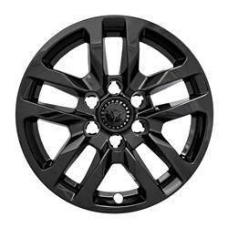 "Chevrolet - Silverado 1500 - CCI - 2019-2020 Chevrolet Silverado 18"" GLOSS BLACK WHEEL SKINS SET OF FOUR IMP432BLK"