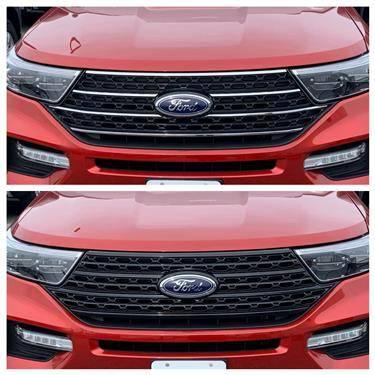 Ford - Explorer - CCI - 2020-2020 Ford Explorer Grille Overlay Black XLT/Base Models